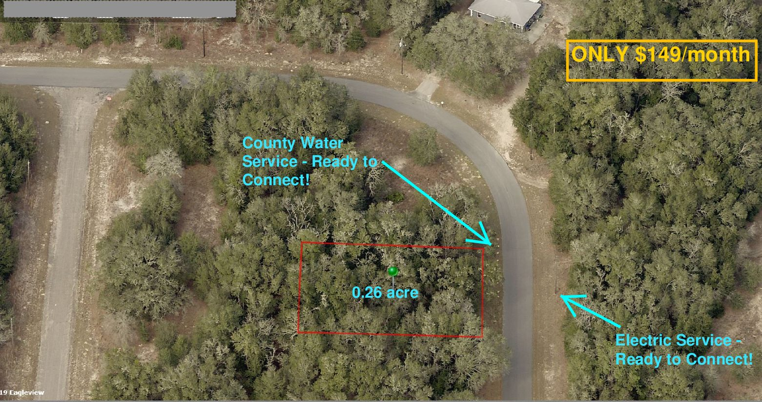 $149/month —> 0.26 Acre Lot with UTILITIES !! – Citrus Springs